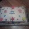 Decorated 1/2 Sheet cake